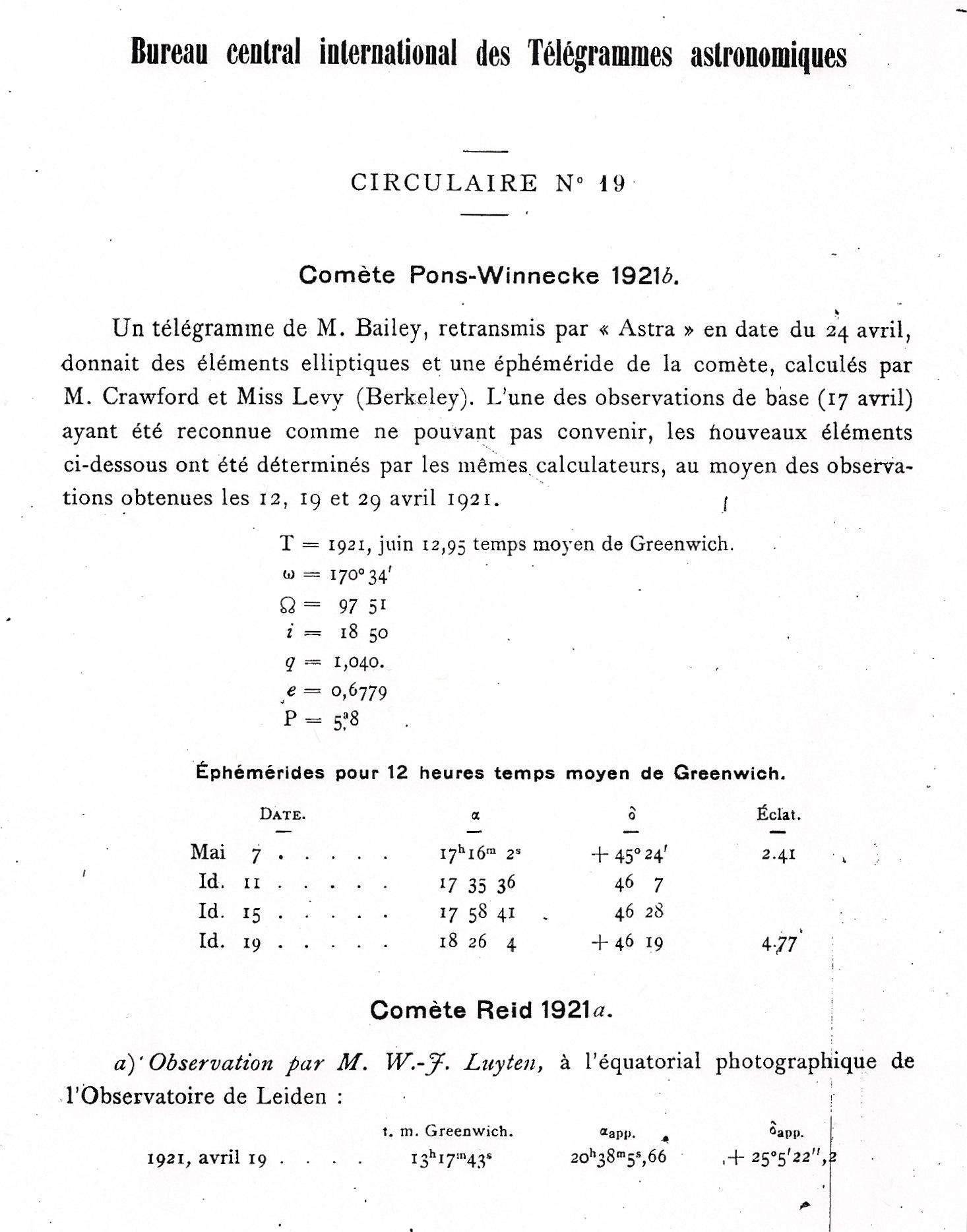 International Astronomical Union Circulars